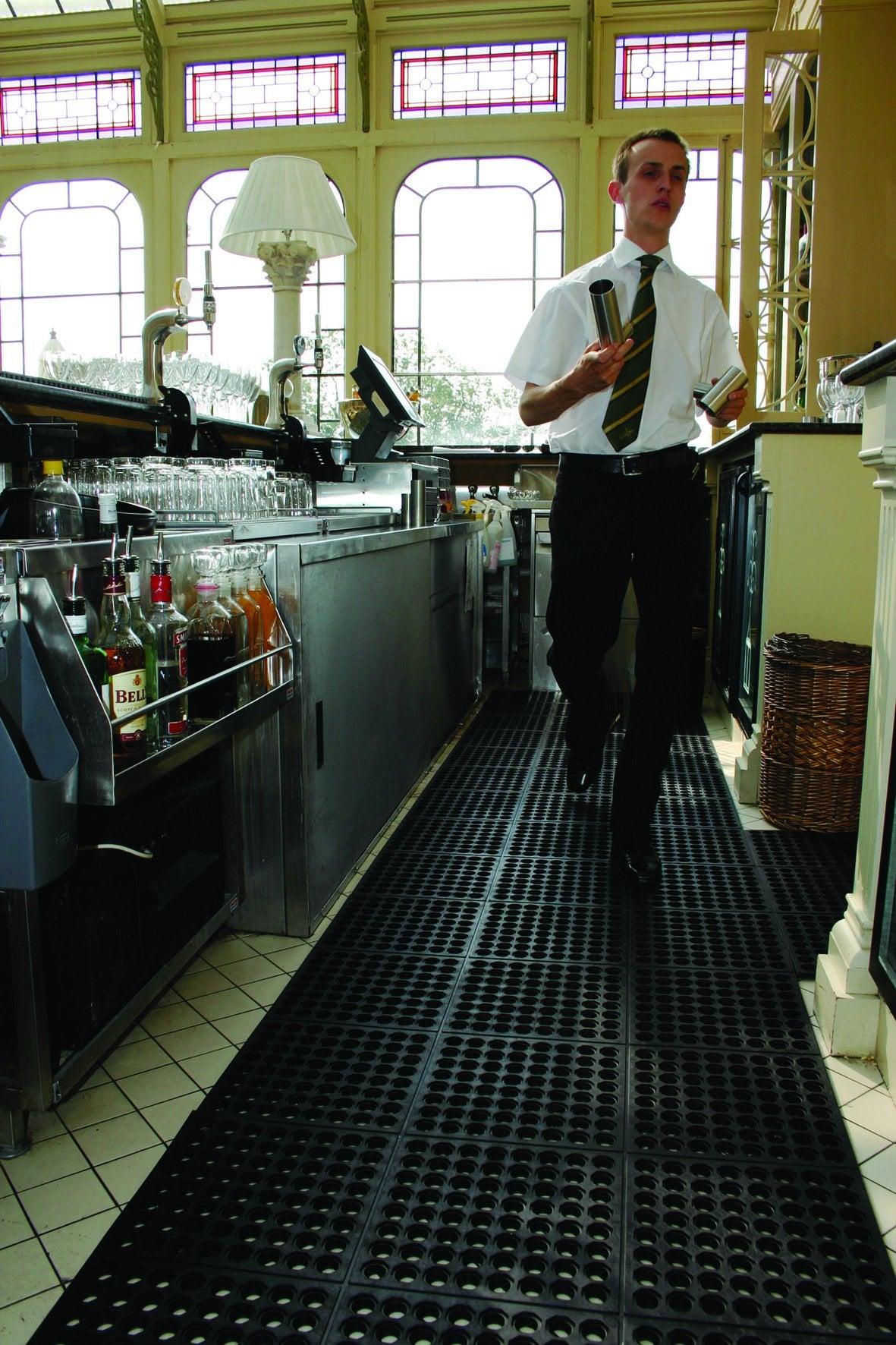 Arbteisplatzmatte Fatigue Step Anti-Ermüdungsmatte Hotel Gastronomie