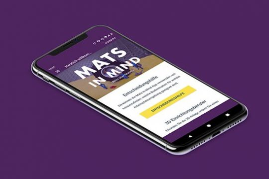 Mats in Mind App Arbeitsplatzmatten Finder