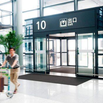 COBA Europe anthrazit Alba Schmutzschleuse Sauberlaufzone Eingang Eingangsbereich