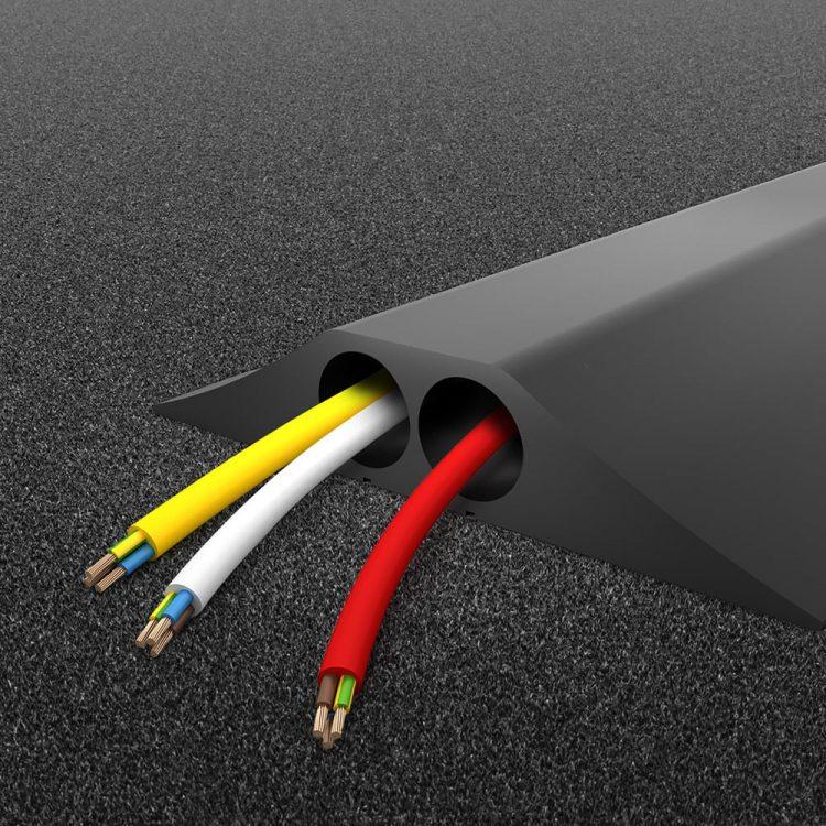 Kabelbrücke Kabelschutz Kabelkanal Aussenbereich Befahrbar Innen