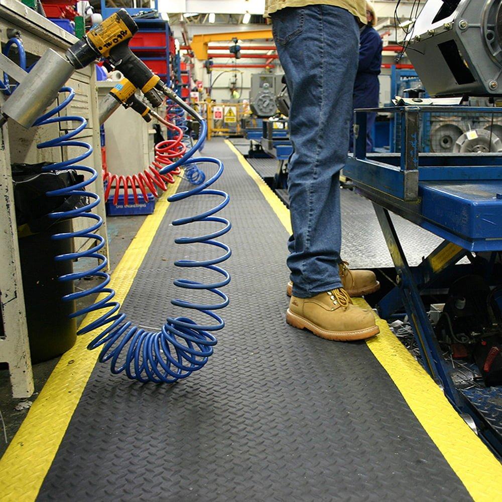 Arbeitsplatzmatten Anti-Ermüdungsmatte Industriematten Meterware Coba deckplate