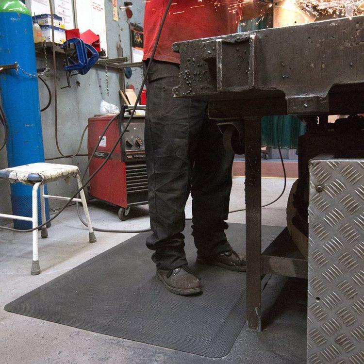 Arbeitsplatzmatten Antirutschmatten Anti-Ermüdungsmatte Meterware Industriematten Schweißarbeitsplatz Coba Diamond Tread