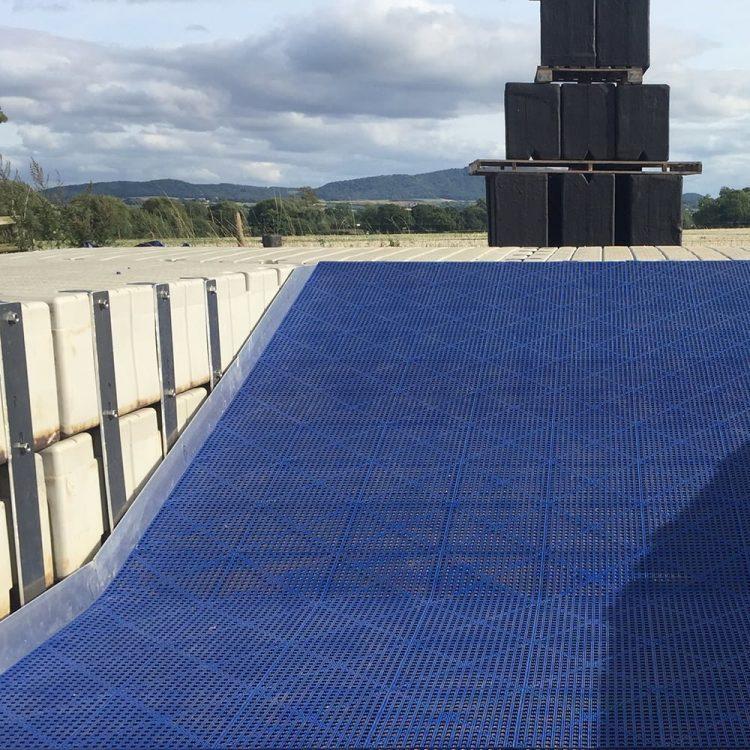 Antirutschmatte Schwimmbadmatte Umleiden Dusche Hygienisch COBA Flexi Deck