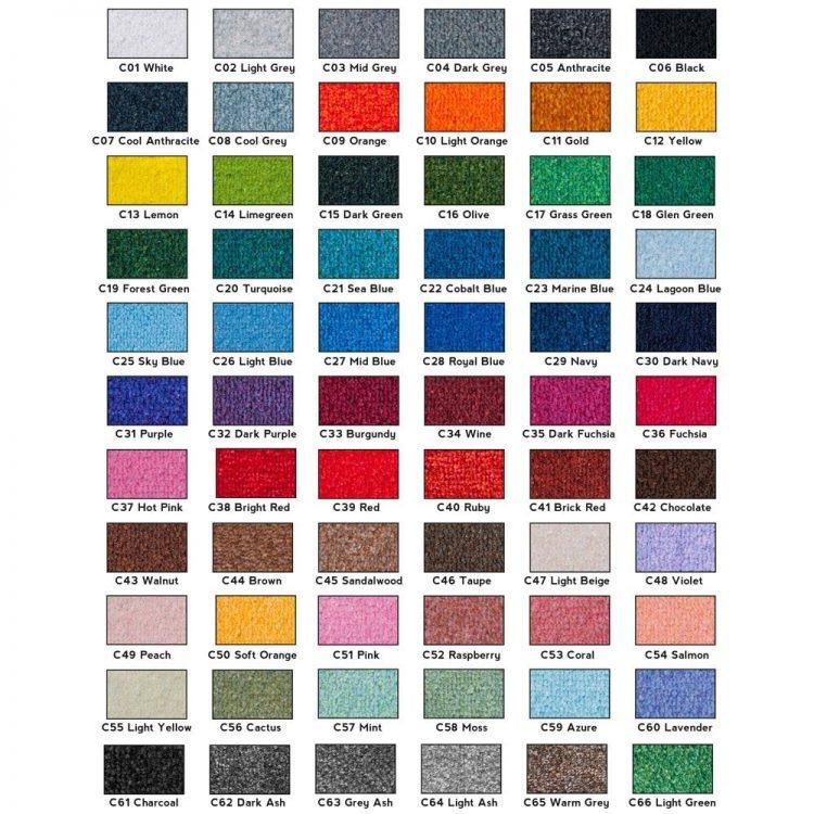 Farben für Logo Sauberlaufzone Eingangszone Schmutzfangmatte Logomatte
