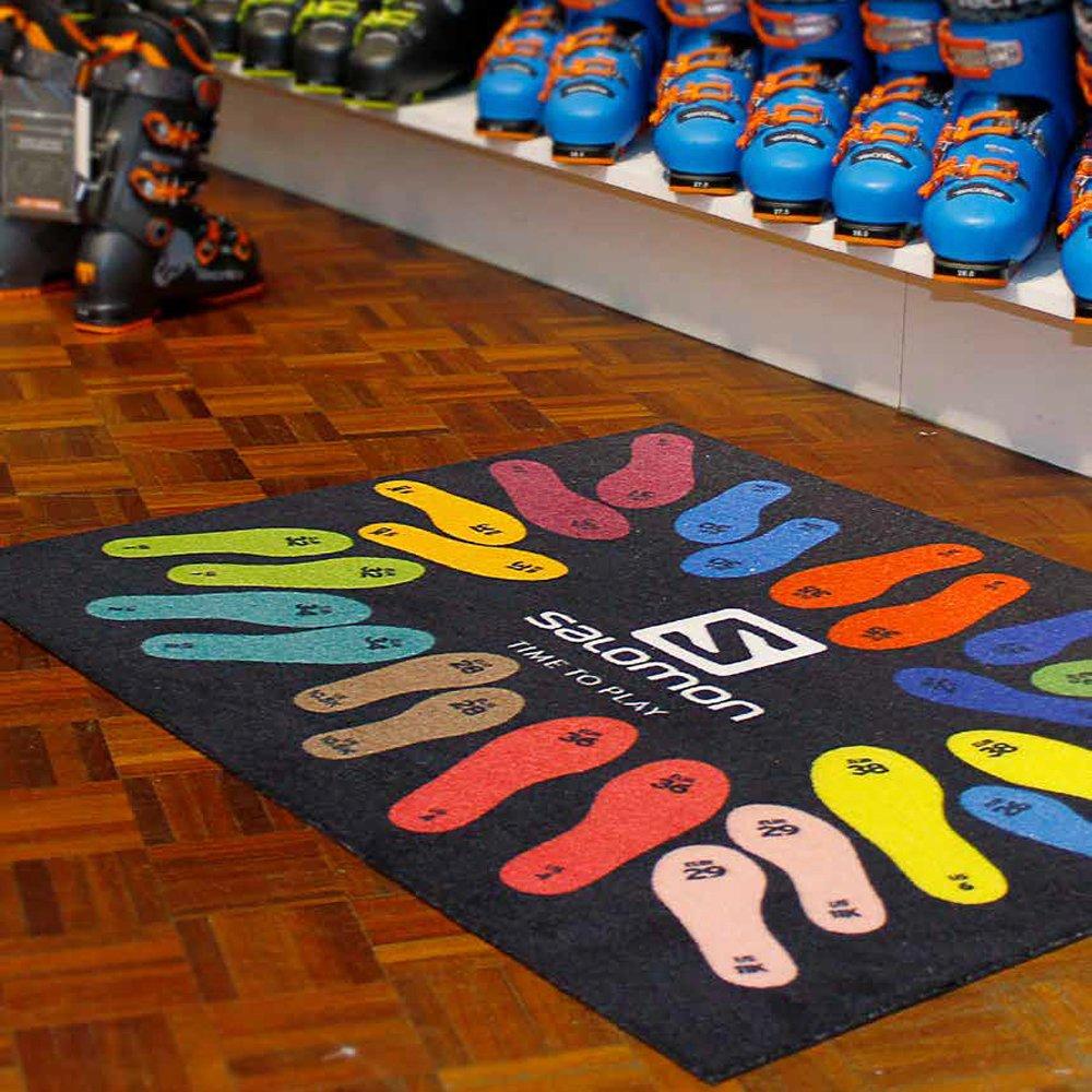 Logomatten Fußmatte Werbematten Design gestalten bedrucken