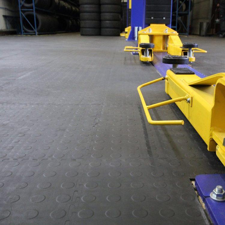 Industriebodenbelag Bodenbelag Fliese recycelt Stapler Hubwagen geeignet