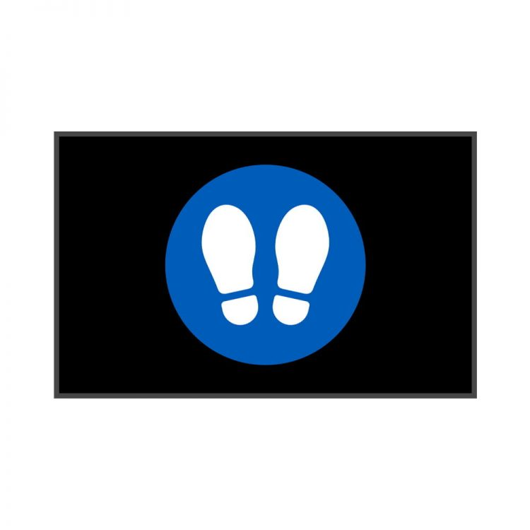 Fußmatte Fußabdrücke Sauberlaufmatte Social Distancing