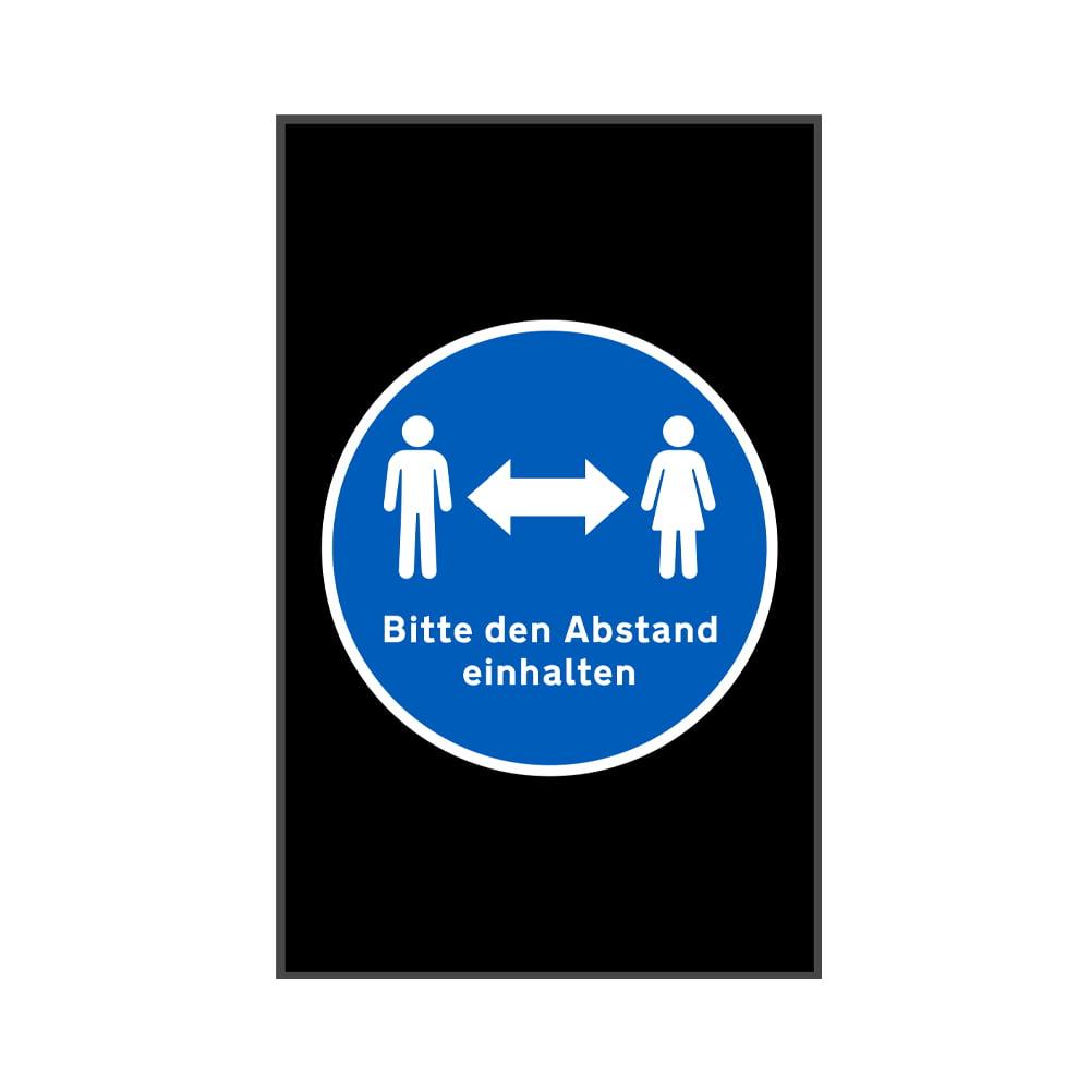 Fußmatte Bitte Abstand halten Sauberlaufmatte Social Distancing