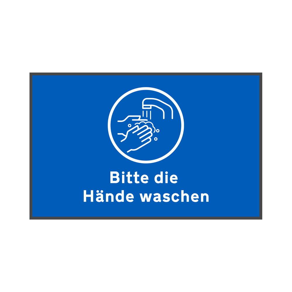 Fußmatte Bitte Hände waschen Sauberlaufmatte Social Distancing