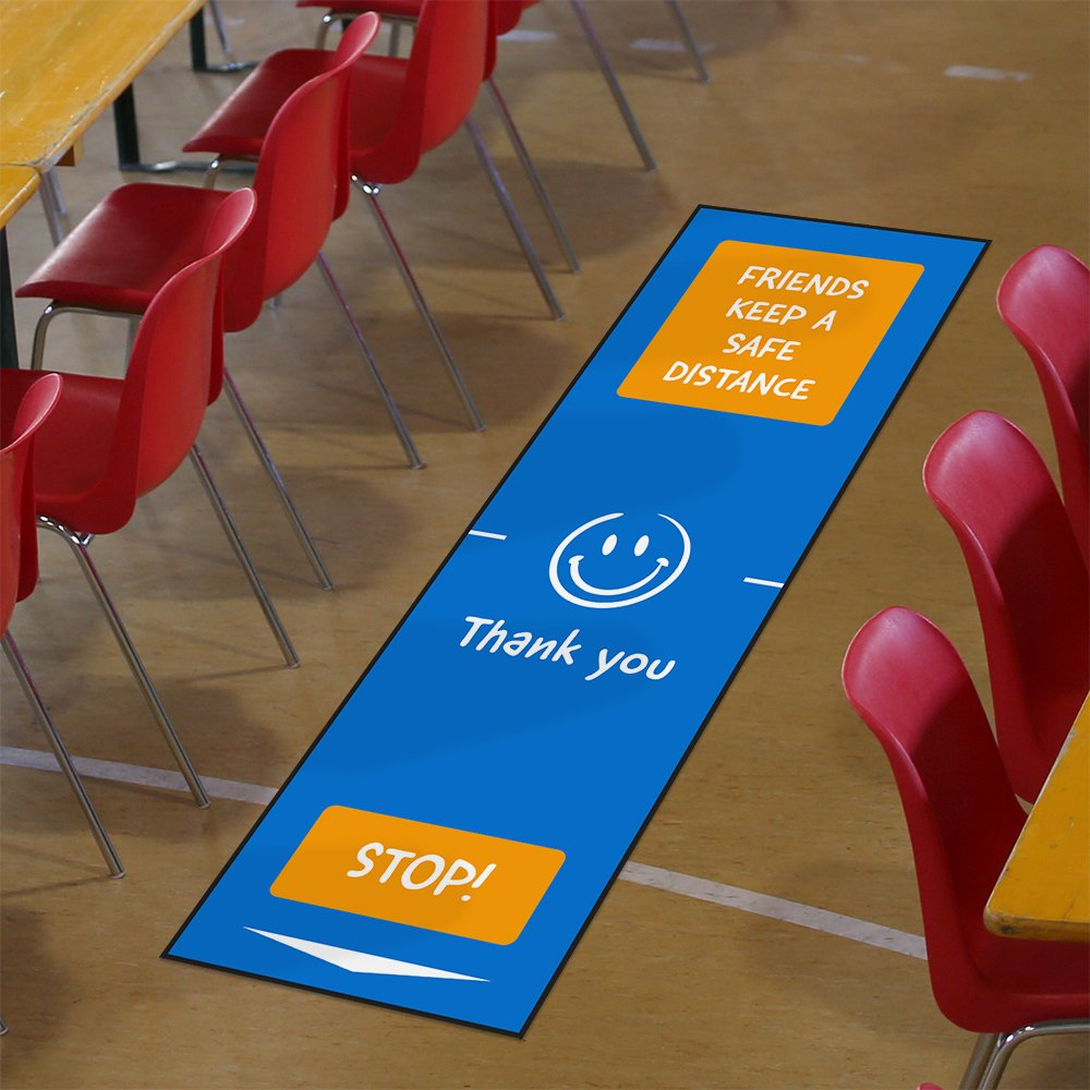 Social Distancing Matten Markierung Schulen 3