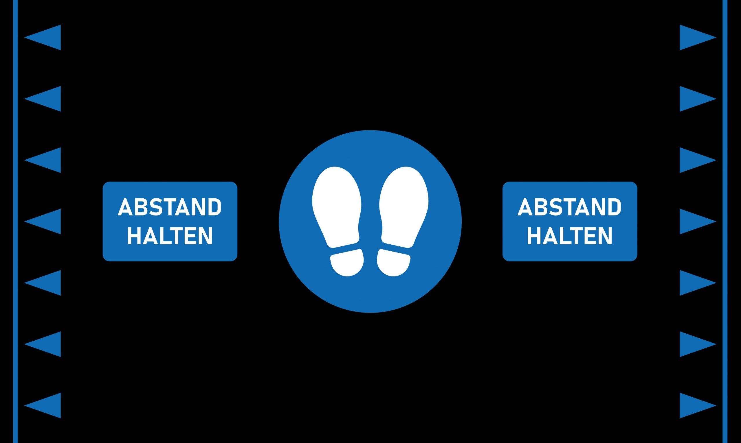 Orthomat Social DIstancing Anti Ermüdungsmatte ergonomische Arbeitsplatzmatte Industrie Matte