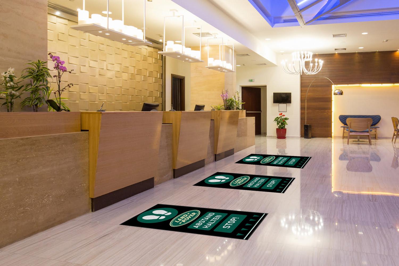 Branded Social Distancing mat Landrover 2