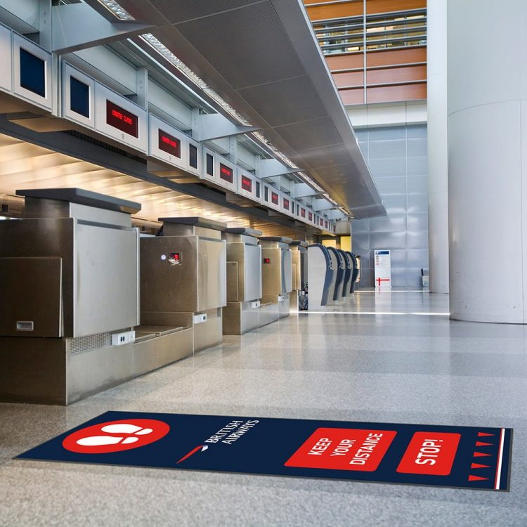 Social Distancing Fußmatte mit Logo BA
