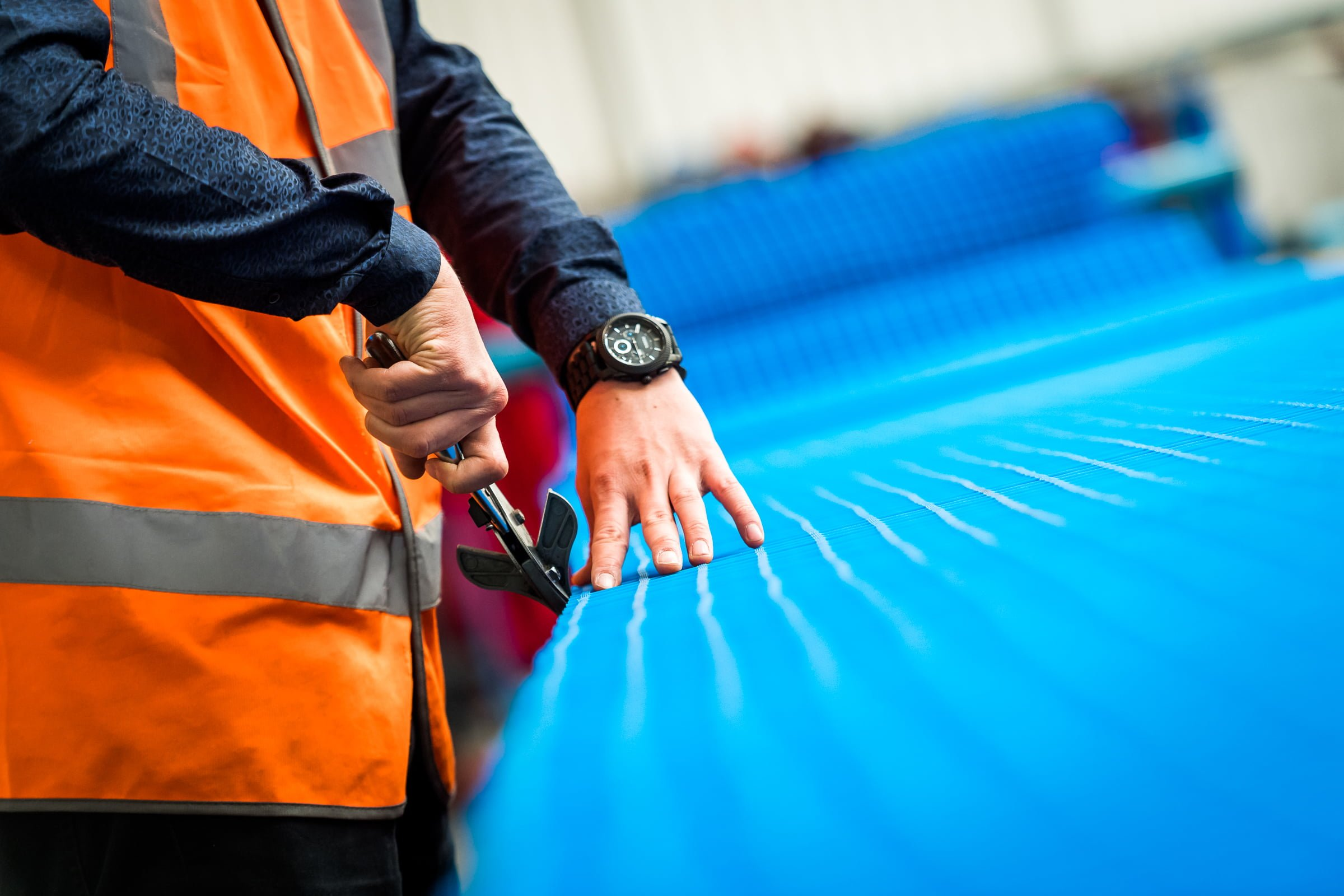 COBA Europe Arbeitsplatzmatten Qualitätskontrolle