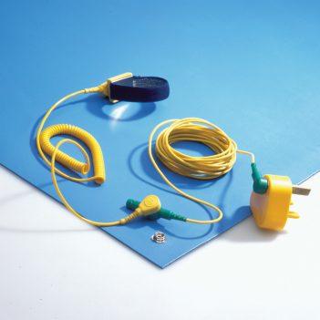 Alfombrilla antiestática ESD revestimiento de mesa SET con accesorios.
