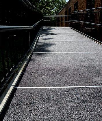 Pavimentos de fibra de vidrio