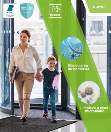 Felpudo antimicrobiano entra clean hygiene plus alfombras desinfectantes