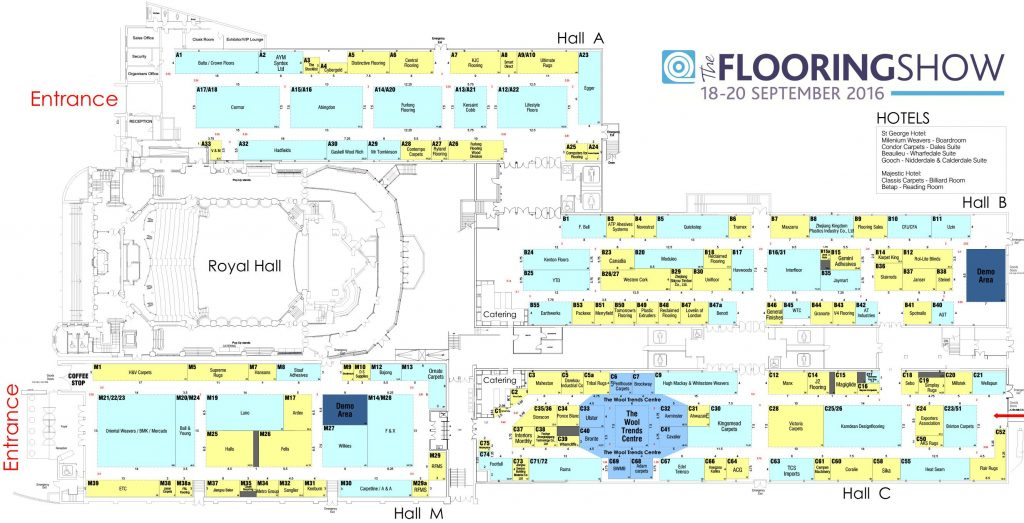 The Flooring Show 2016 Floorplan