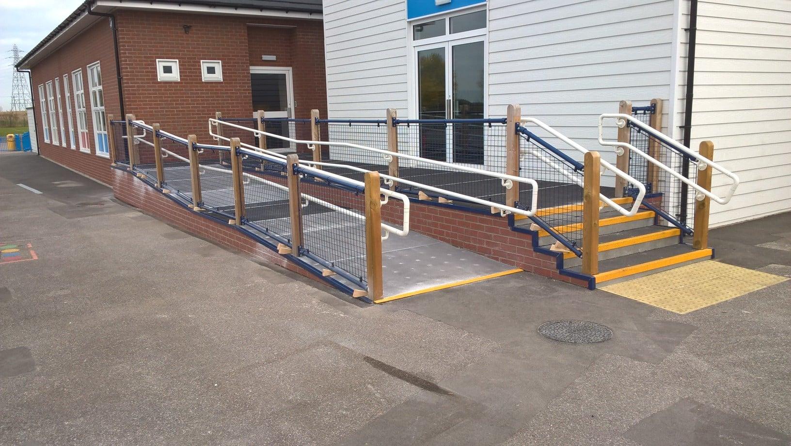 Outdoor Anti Slip Flooring For Queensborough School Coba