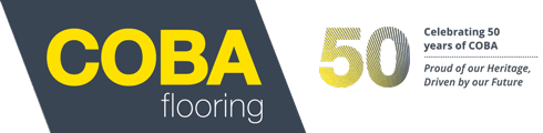 COBA Flooring Logo at 50 Years