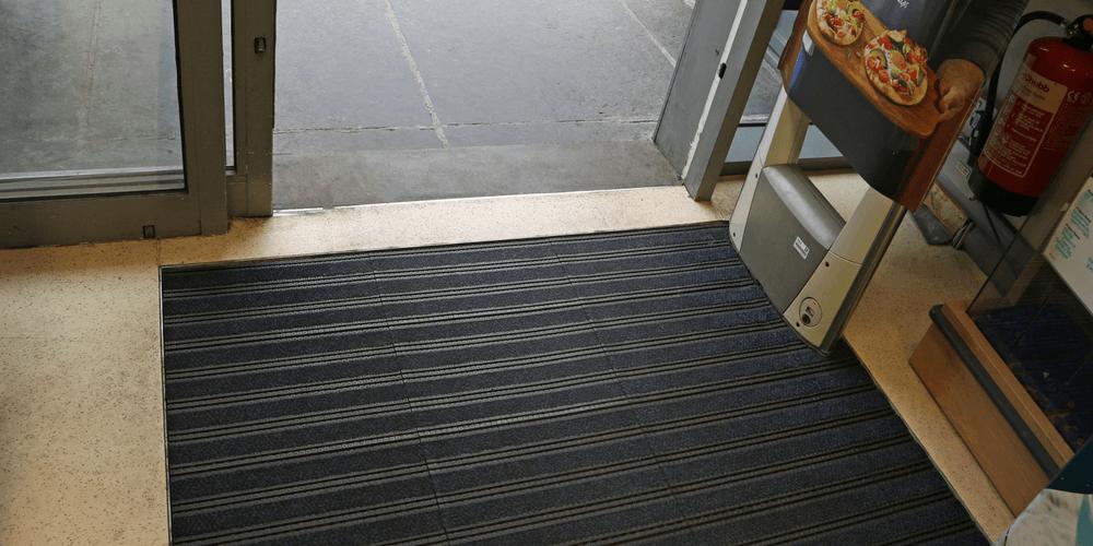 tile entrance matting