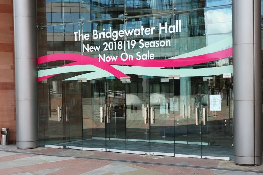 BridgeWater Hall entrance