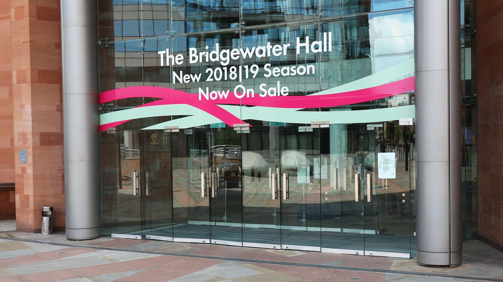 BridgeWater Hall entrance