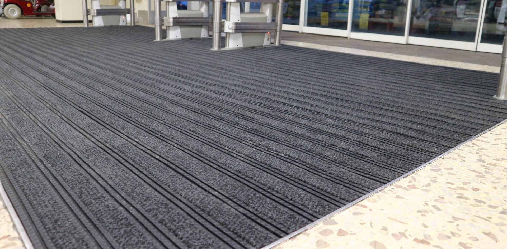 Tesco entrance matting