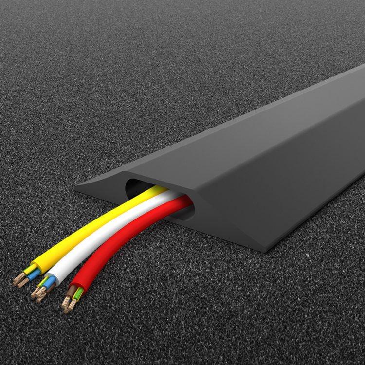 Pont de câbles multicanaux Protection des câbles à deux canaux Bureau Canal de câbles