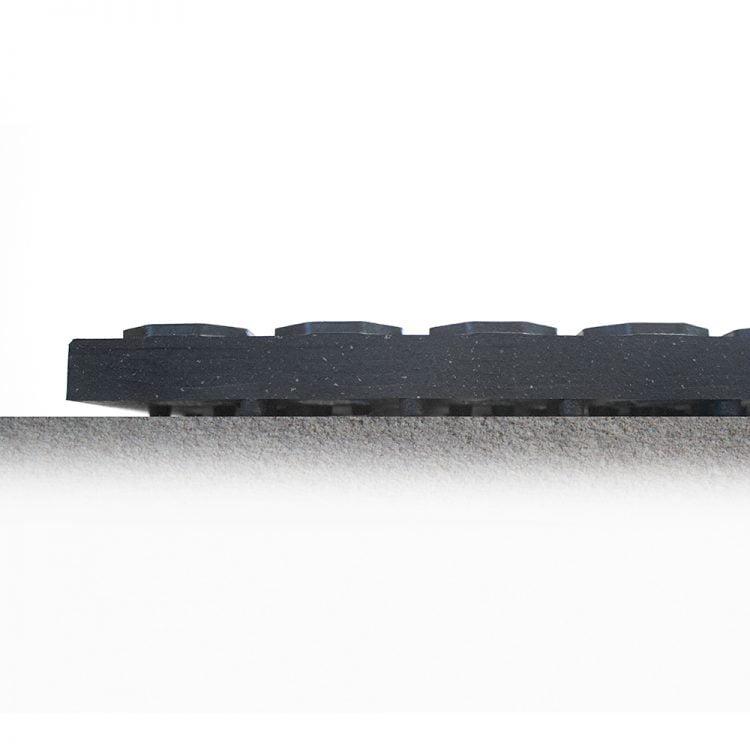 Tapis de travail Gastronomie Comptoir Zone de comptoir Tapis anti-fatigue Coba Tapis en caoutchouc à anneaux de luxe Tapis antidérapant
