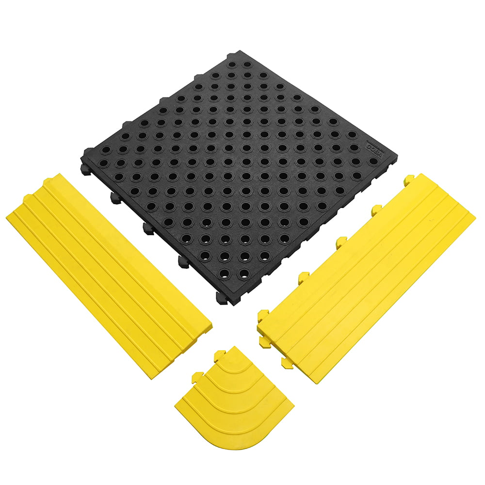 Tapis anti-fatigue Tapis ergonomique pour le lieu de travail Combinaison de serrure anti-fatigue à surface fermée et ouverte