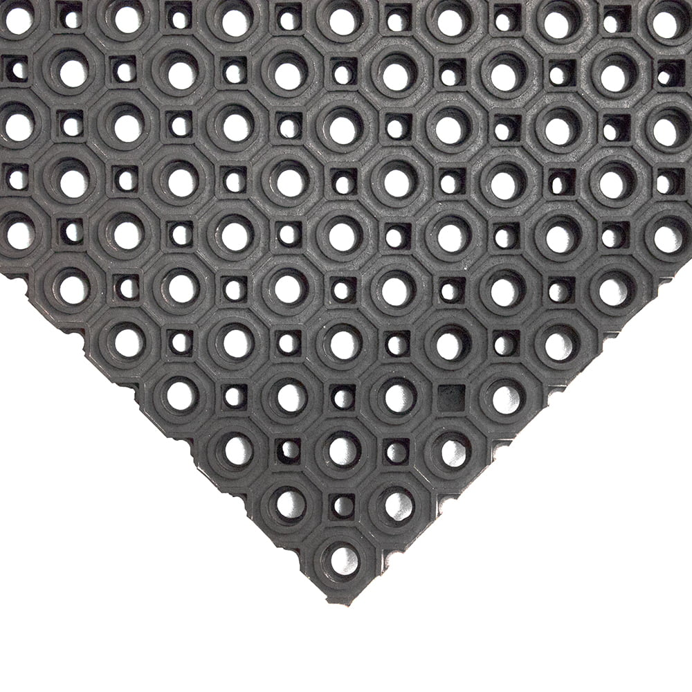 Tapis en caoutchouc en forme d'anneau Tapis anti-saleté efficace et résistant pour l'extérieur