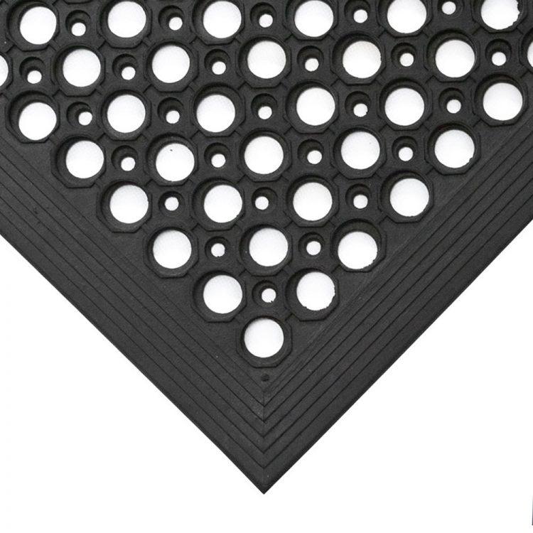 Tapis de travail Tapis anti-salissures Tapis antidérapant Tapis en caoutchouc en forme d'anneau