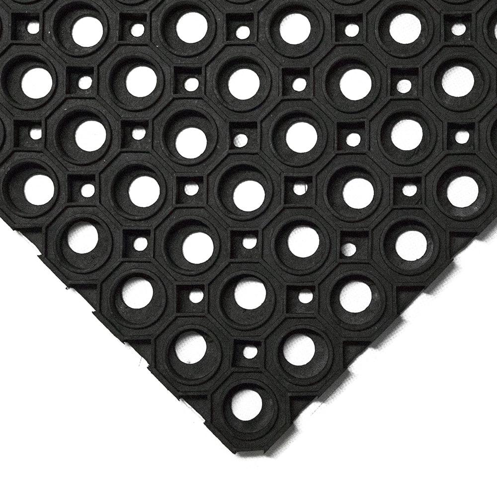 Tapis de rétention des salissures Tapis d'entrée Tapis en caoutchouc annulaire robuste de haute qualité Extérieur