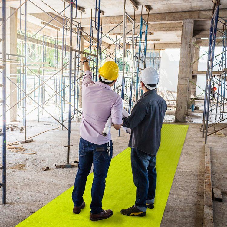 SitePath au sol des chemins d'accès très visibles Sites de construction Sites d'usines