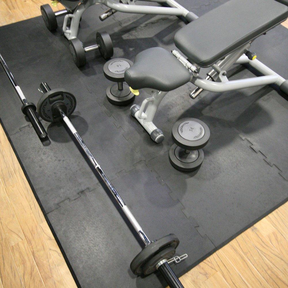 Tapis de protection Tapis antidérapant Tapis absorbant les chocs Tapis de sport pour studio de fitness Tapis en caoutchouc