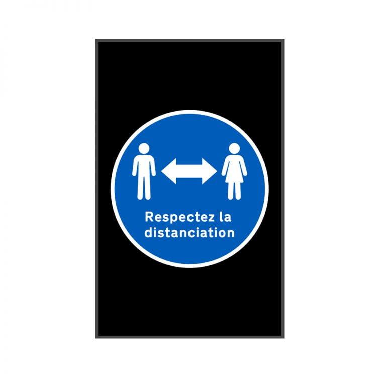 Tapis de distanciation sociale