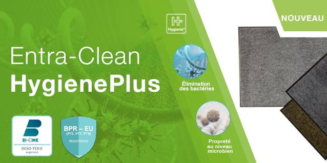 Paillasson aux propriétés anti-microbiennes Entra Clean Hygiene+ COBA Europe