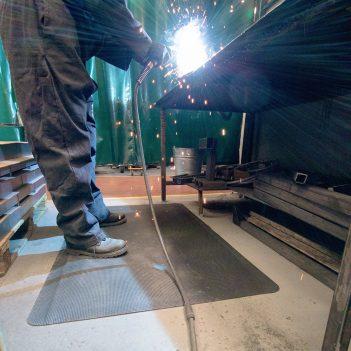 tapis de travail, Tapis anti-fatigue, destiné aux soudeurs