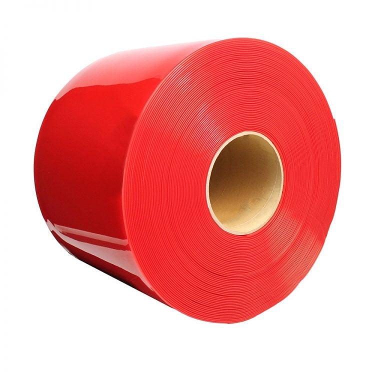Rideau à lanières en PVC bandes d'avertissement rouge