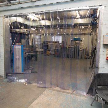Rideau à lanière en PVC transparent