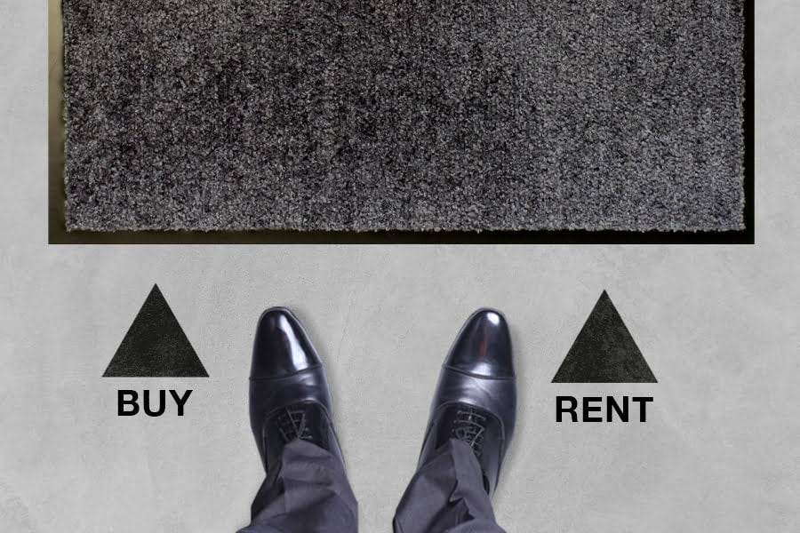 Porównanie kosztów mat wychwytujących brud kupno lub wynajem