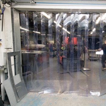 PVC kurtyna paskowa przezroczysta bezbarwna