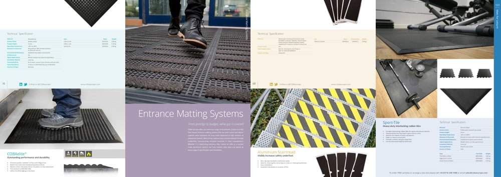collage of categories in matting catalogue