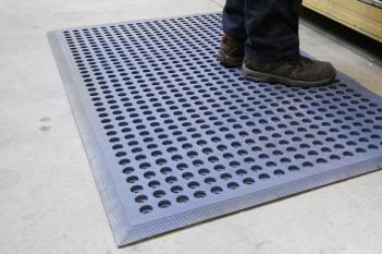 Worksafe Oil Resistant Mat - Blue Greaseproof