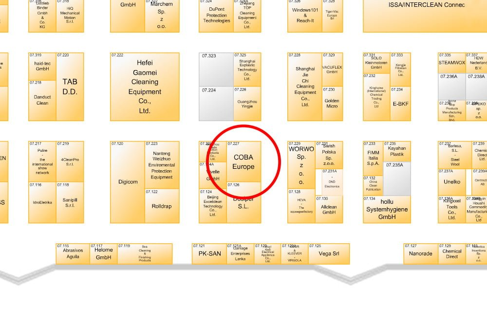 Coba europe at issa interclean may 2016 for Gt issa floor plans