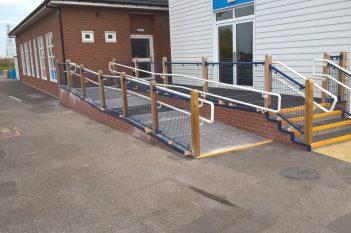 Queensborough School Outdoor Anti-Slip Flooring