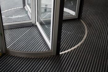 entrance matting revolving door
