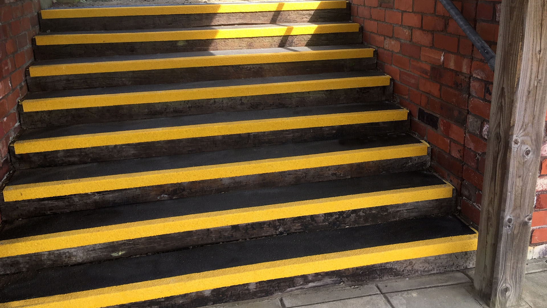 GRP Stair Tread for Torridge District Council