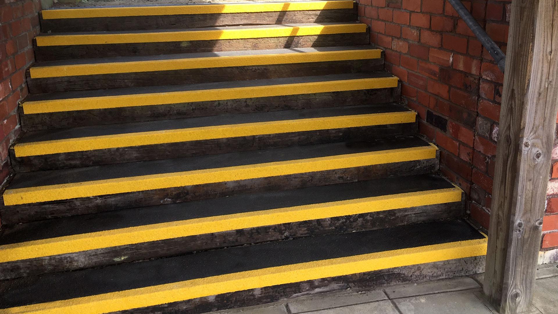 GRP Stair Tread for Torridge District Council